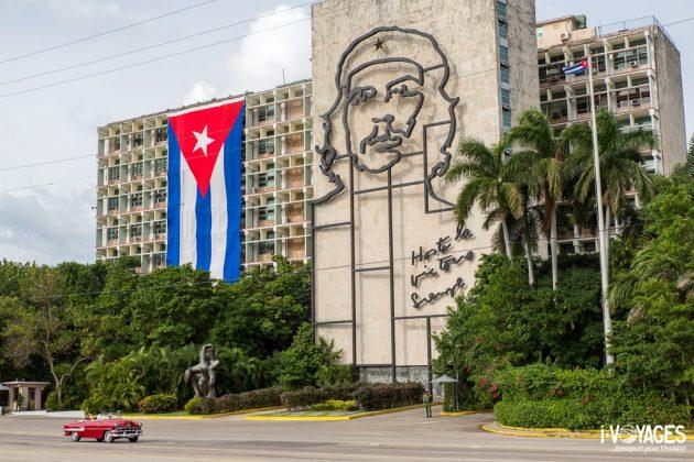 Le Che sur la place de la Révolution à la Havane