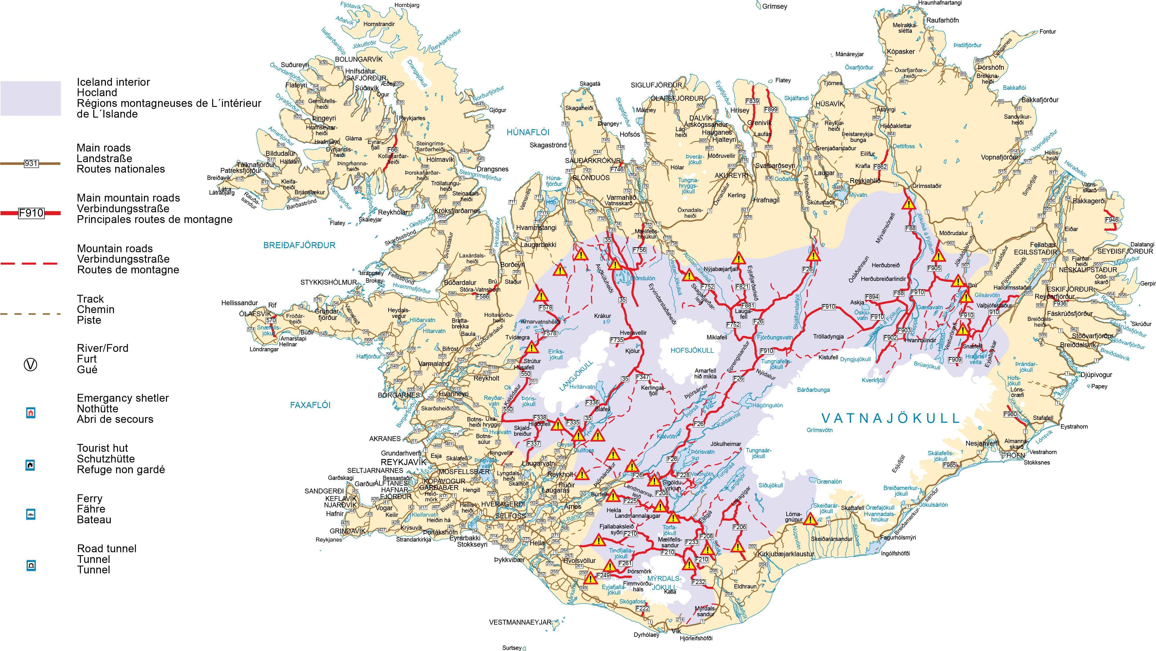Ouverture piste islande