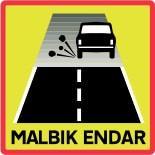 Panneau Islande : fin de route goudronnée