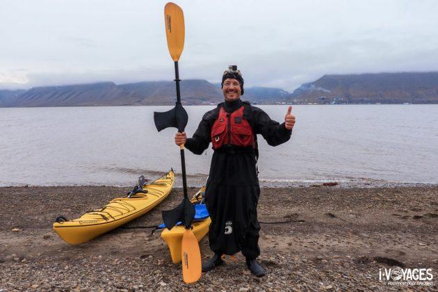 Kayak de mer au Svalbard