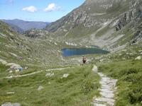 En redescendant, le lac Saussat