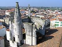 Vue depuis le clocher de l'église de Saint Martin en Ré