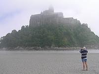 Mont Saint Michel à notre arrivée