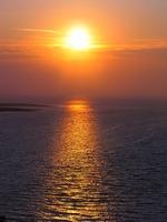 Soleil couchant sur la baie du Mont Saint Michel