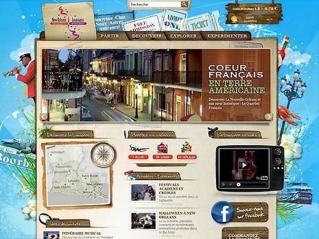 Site internet de l'office de tourisme de Louisiane