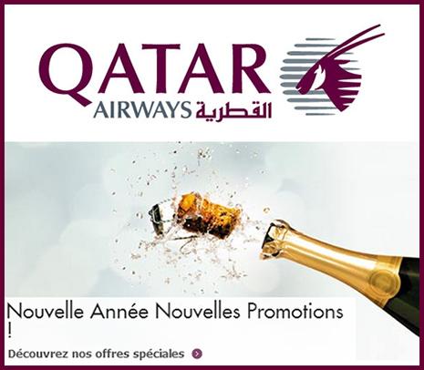 Promotion Qatar Airways de janvier 2013