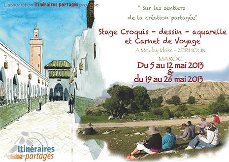 Stage Aquarelle et carnet de Voyage au Maroc