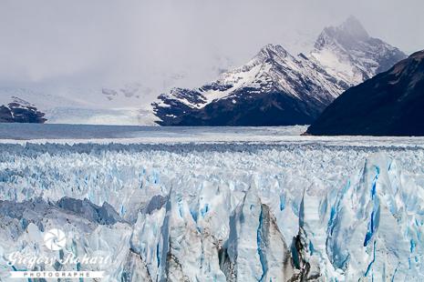 Le haut du glacier Perito Moreno