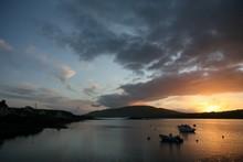 coucher de soleil sur Portmagee