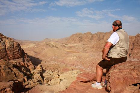 Petra vue d'en haut