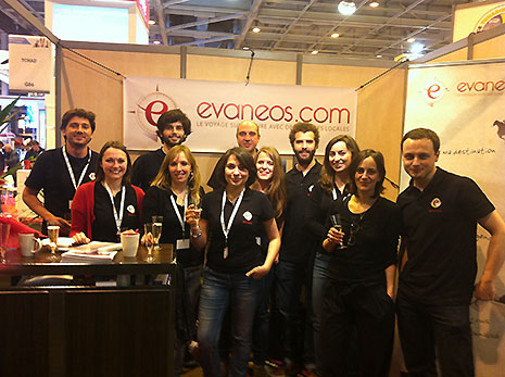 L'équipe d'Evaneos au salon du MAP 2012