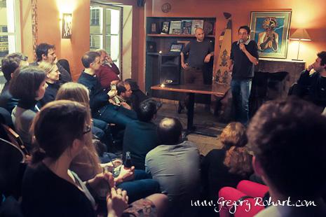 Conférence de Volodia Petropavlovsky au café de l'aventure