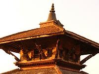 Toit du temple de Krishna