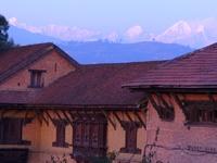Vue sur le Langtang depuis Bhaktapur