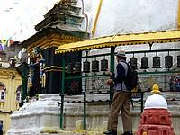 Moulins à prières de Swayambhunath