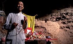 Autel d'un moine-ermite sur le site de la « Grotte du rideau de pluie »