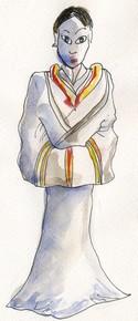 Costume de femme, à l'époque de la dynastie des Han