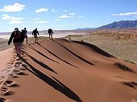 Marche dans les dunes - Namib Rand Nature Reserve