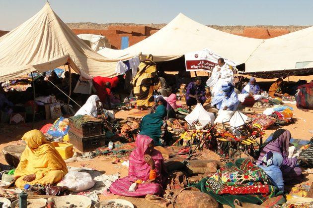 Le grand marché, au moment du festival.