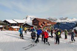 Saint-Gervais : skier face au mont Blanc