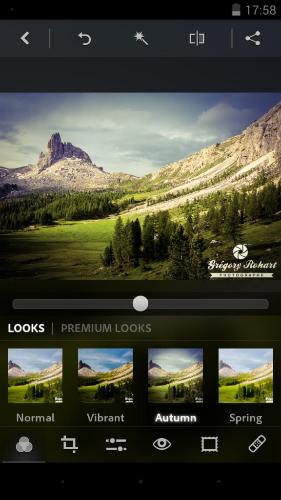 J'apprécie tout particulièrement la qualité des filtres de Photoshop Express