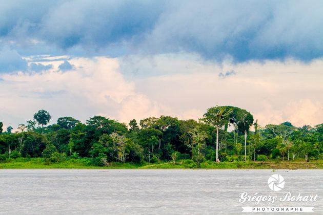 Le rio Amazone sert de frontière entre la Colmbie et le Pérou