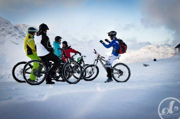 Le VTT sur neige : une excellente surprise une fois l'appréhension passée ! © Alban Penney