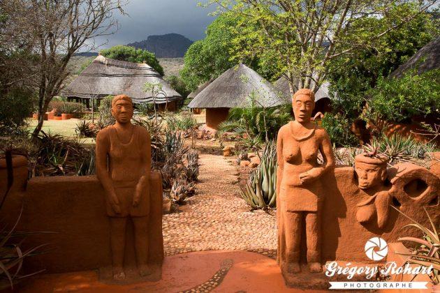 Le Venda lodge a été entièrement réalisé par des artisans locaux de l'ethnie Venda