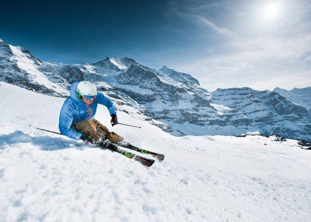 214 km de pistes sur trois domaines. © Jungfrau-Railways