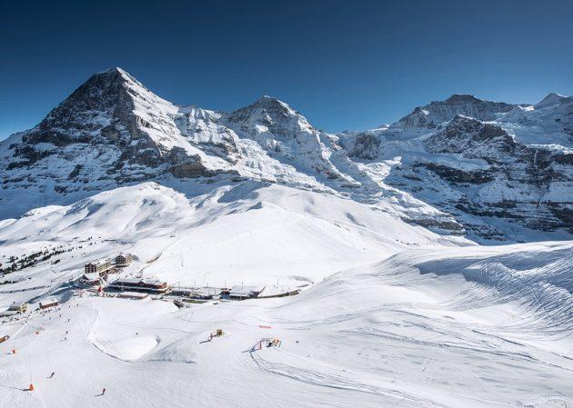 L'Eiger dont la face nord a vue tant d'alpinistes perdre la vie. © Jungfrau Railways