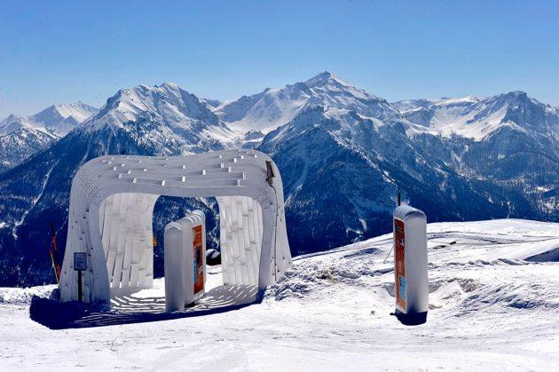 Une série de huttes où le skieur, sans déchausser, découvre Vauban en résolvant une petite énigme.