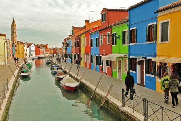 L'île de Burano, si colorée.