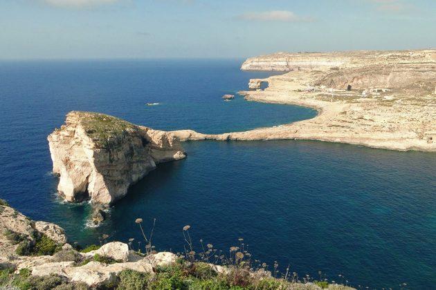 A Gozo, le site d'Azure window est l'une des plus belles cartes postales.