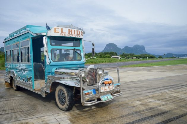 Jeepeney de l'aéroport de El Nido