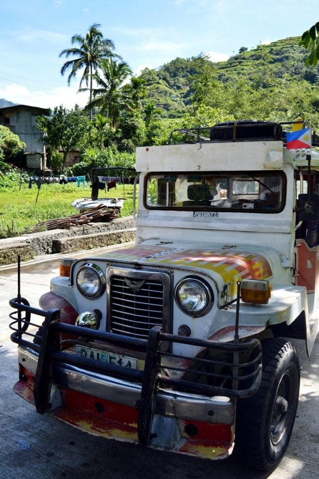 La jeepney, le mode de transport local pour rejoindre Ifugao