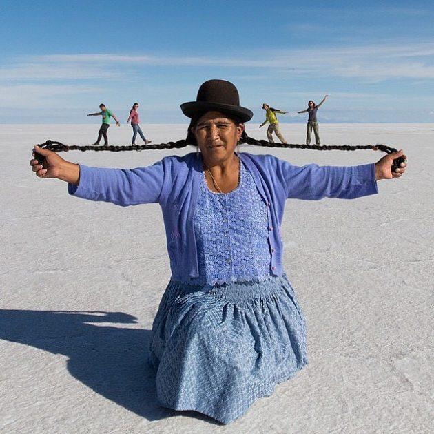 Les gringos en Bolivie c'est ça ! (photo de Reuben Hernandez)
