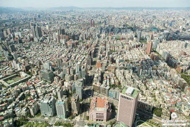 Panorama depuis le haut de la Taipei 101