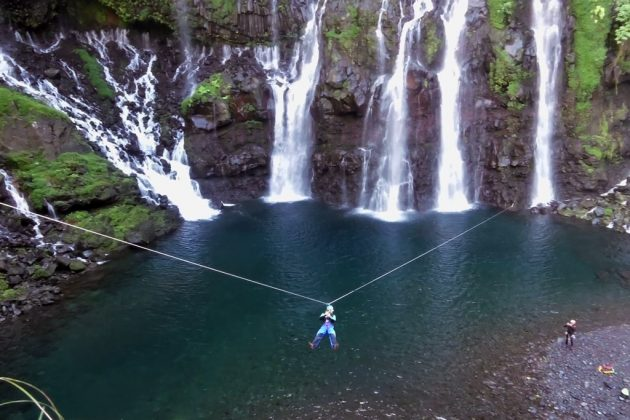 Canyoning cascade des grands galets