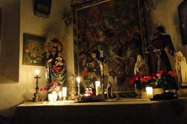 La chapelle familiale date du XVIIIe.