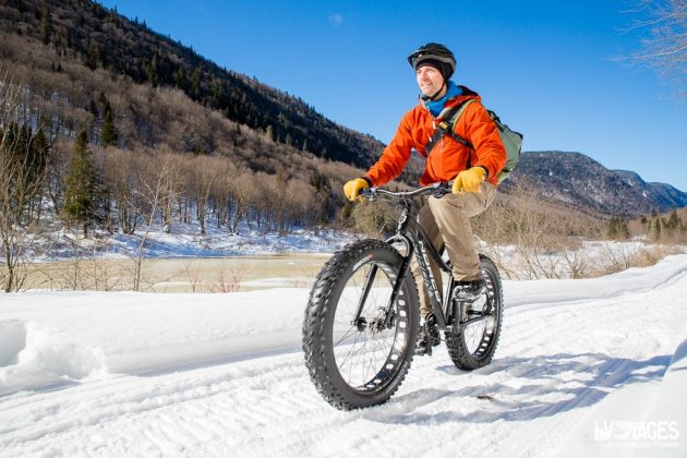 Fat bike dans le parc national de la Jacques Cartier