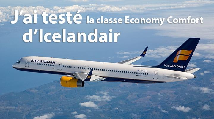 J'ai testé la classe Economy Comfort d'Icelandair
