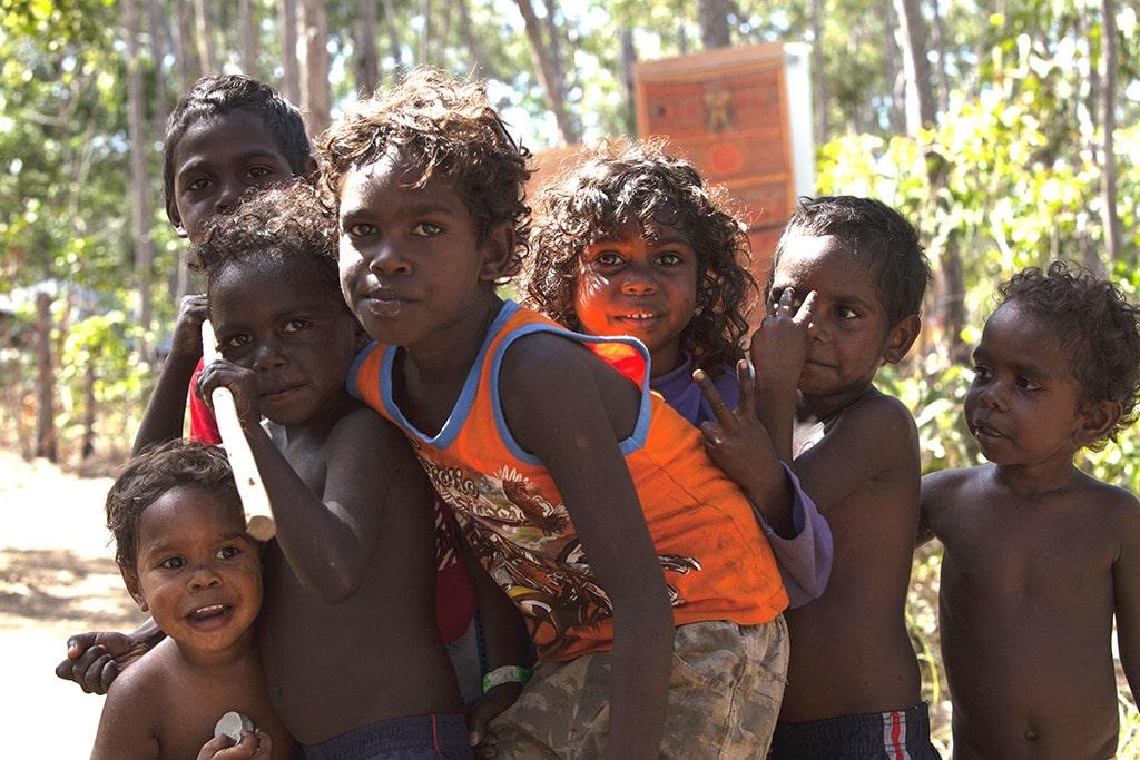 Garma Festival, Gulkula, NT, enfants aborigènes