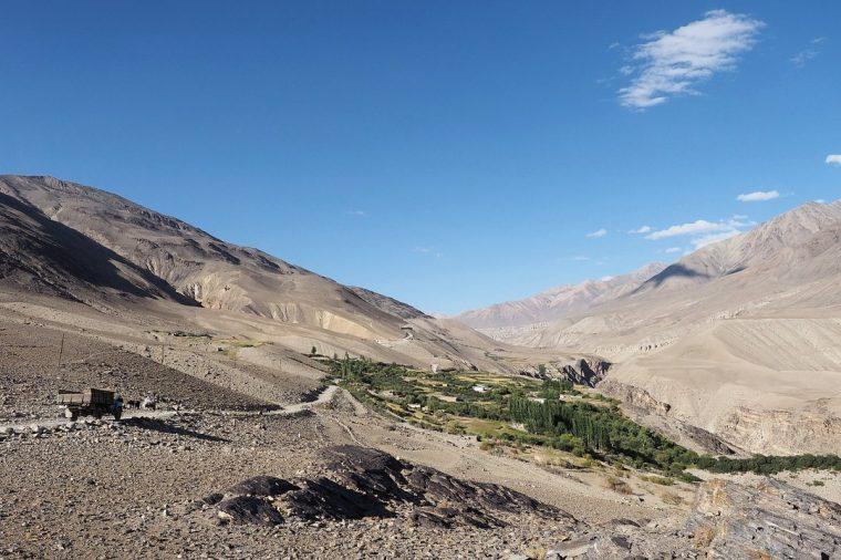 Route de Karguch en dessus de Langar