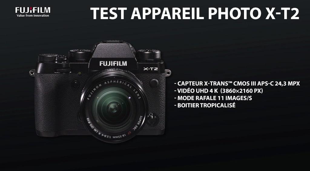 J'ai testé le Fujifilm X-T2, un appareil hybride APS-C doté de la vidéo 4K