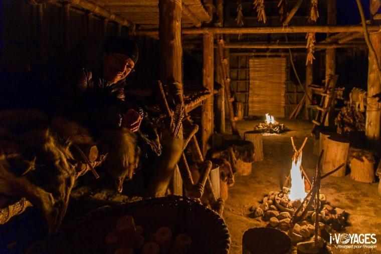 j'ai dormi dans une maison traditionnelle des Hurons-Wendat
