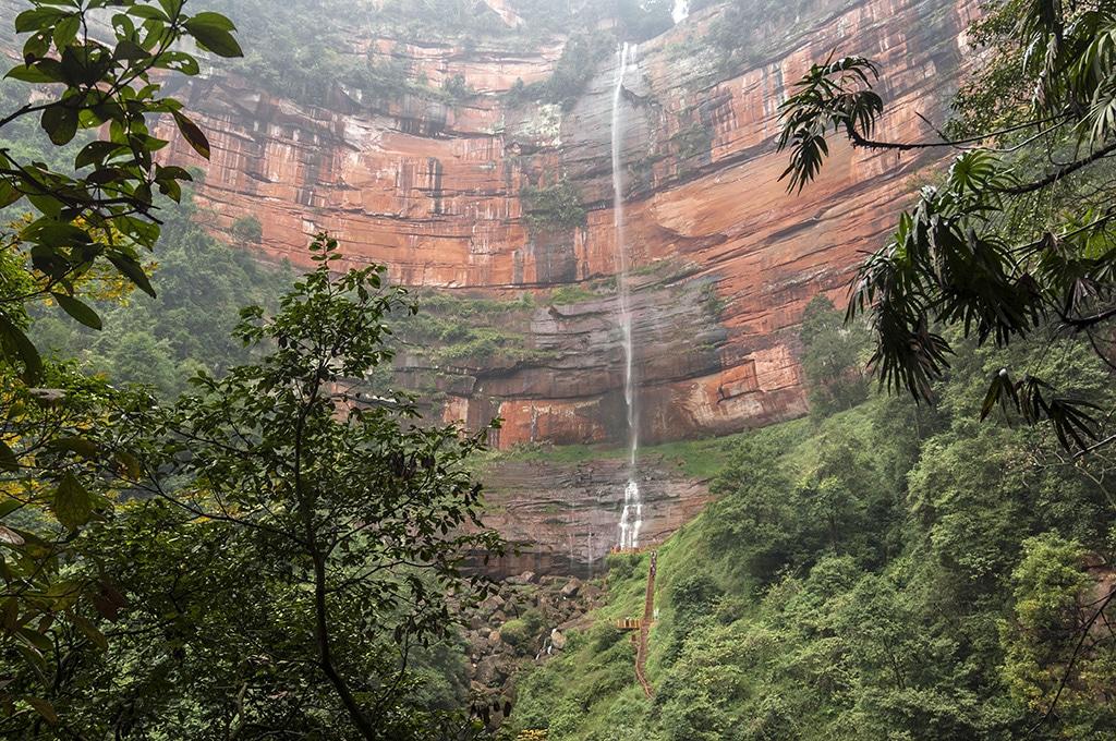 Falaise rouge du Releif de Danxia classé au patrimoine naturel de l'Unesco