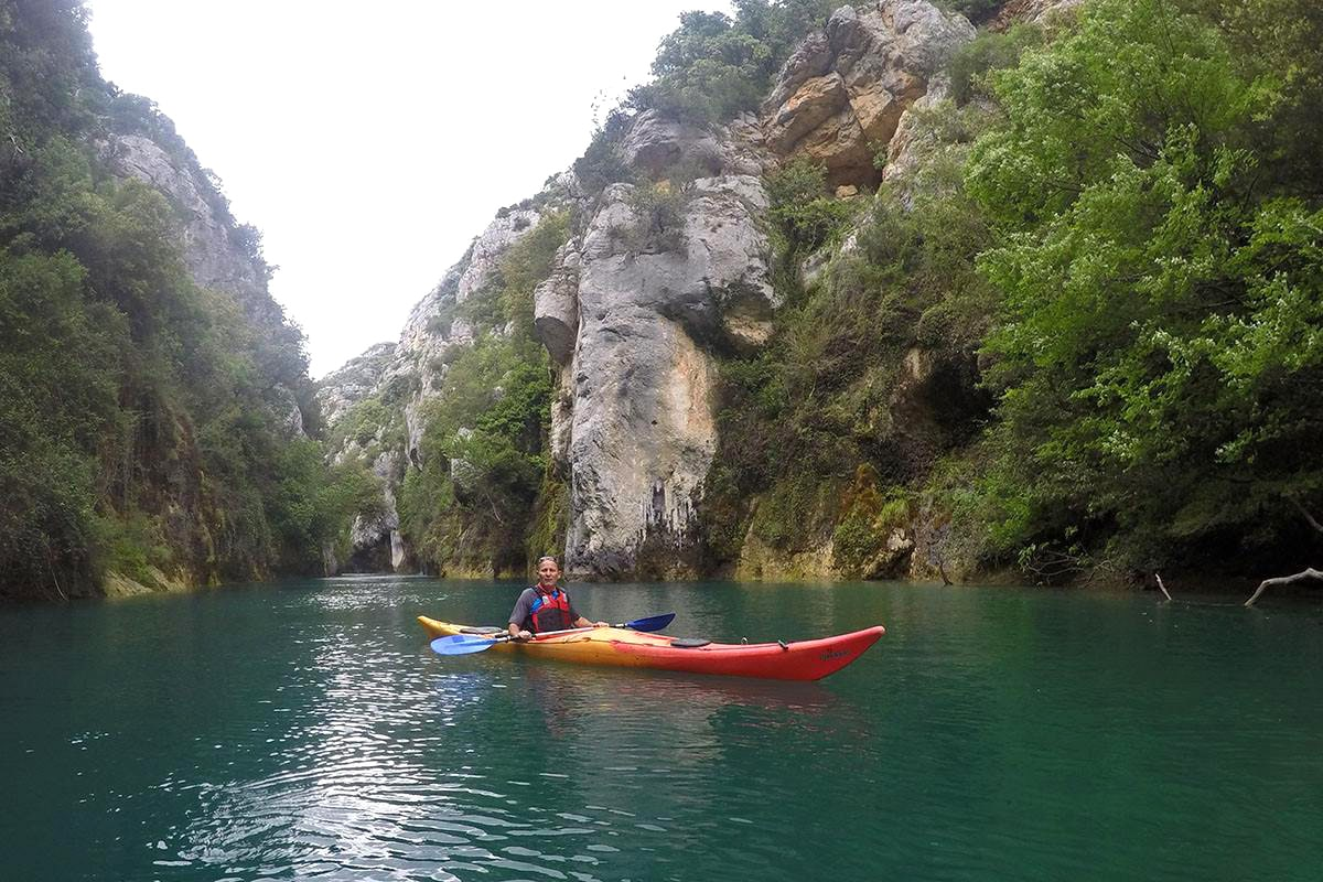 kayak dans les gorges de Baudinard