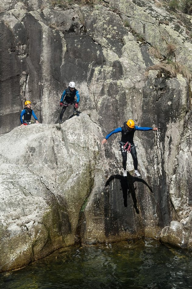 canyoning dans gorges de Chassezac