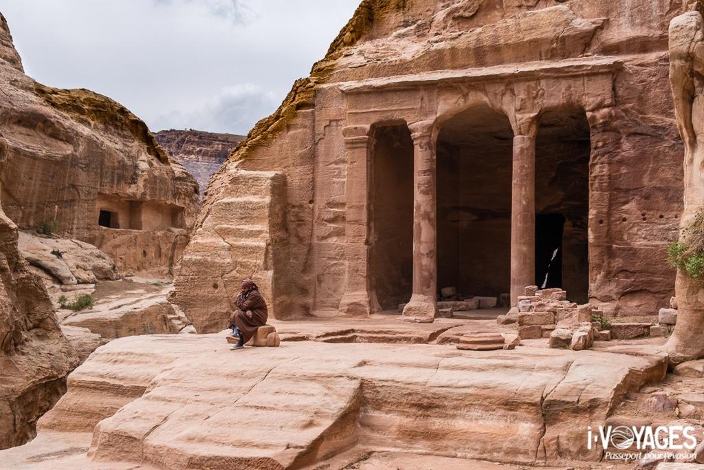 Dénommée la tombe du Jardin, ce momnument était en réalité un temple, wadi Farasa, Pétra, Jordanie.