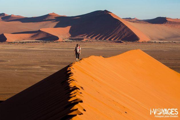 Dune 40 à Sossusvlei, désert du Namib, Namibie